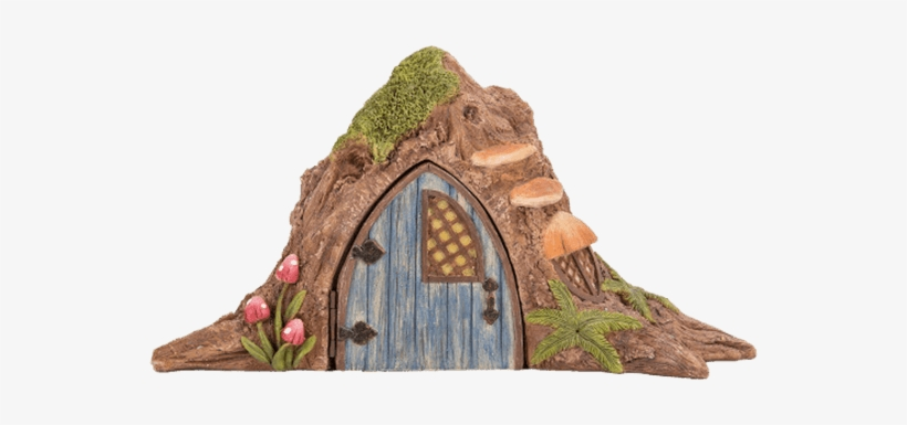 Tree Trunk Fairy House Garden Statue - Fairy Tree Trunk House, transparent png #3862857