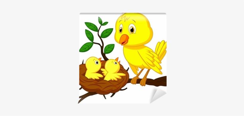 Mother Bird And Baby Bird, transparent png #3863290