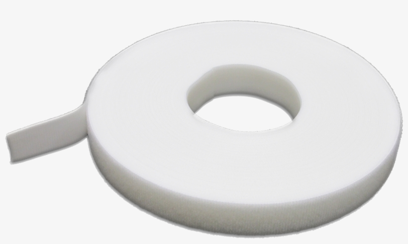 """5/8"""" White One-wrap® Tape - Velcro One Wrap 1 2 White, transparent png #3864044"""