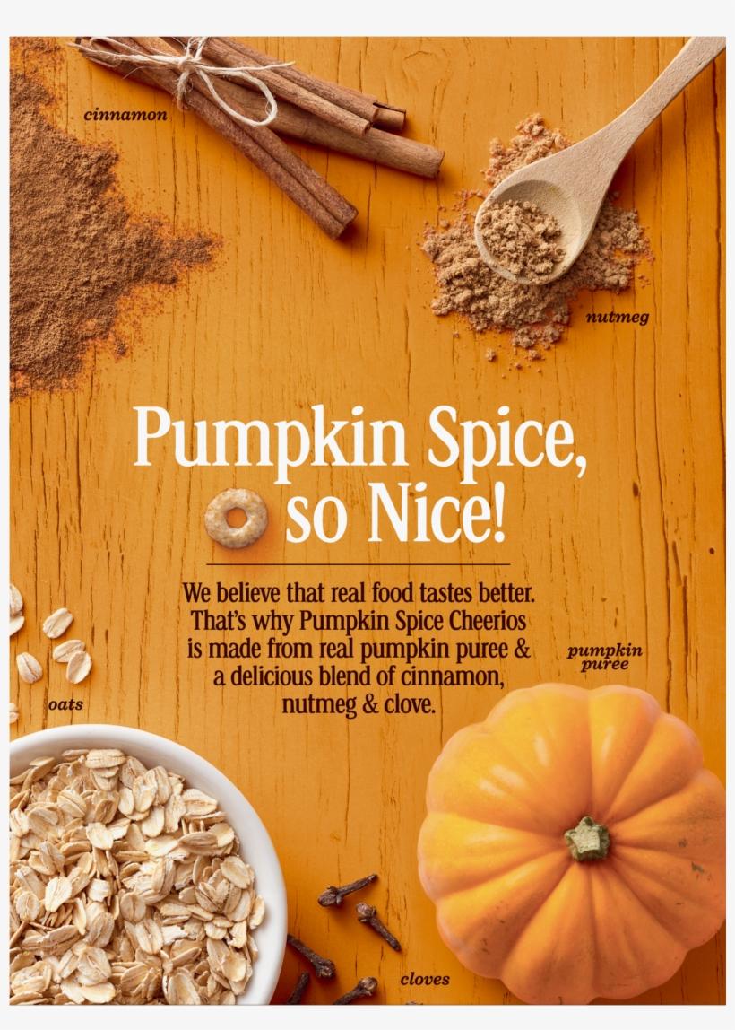 Pumpkin Spice Cheerios, Gluten Free, Cereal With Oats - Pumpkin Spice Cheerios Box, transparent png #3864338