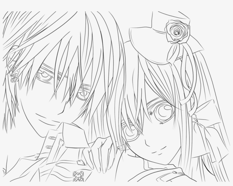 - Anime Vampire Coloring Pages - Free Transparent PNG Download - PNGkey
