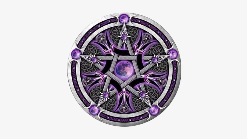 Pentagram Pentacle Moon Star Wicca Pagan Wiccan Gothic Celtic