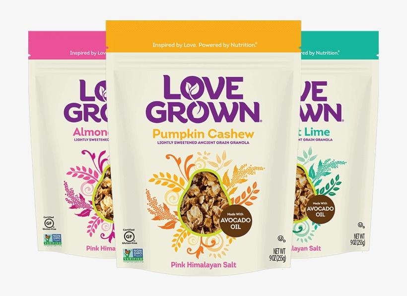 Love Grown Ancient Grains Granola Product Family - Love Grown Foods Comet Crispies Chocolate - 9.5 Oz, transparent png #3866611