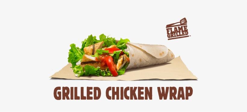 Grilled Chicken Wrap - Burger King Wrap, transparent png #3867606