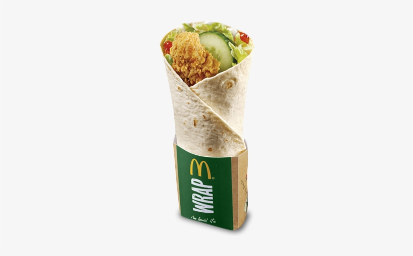 Sweet Chilli Crispy Chicken Wrap Mcdonald S Wrap Free Transparent Png Download Pngkey