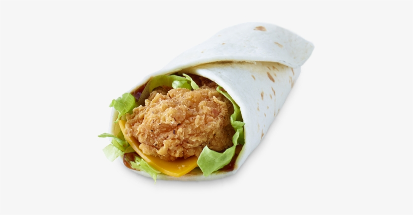 Bbq Chicken Snack Wrap Mcdonalds Bbq Wrap Free Transparent Png Download Pngkey