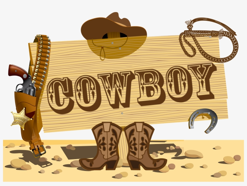 Welcome To Our Cowboy Party Wild West Themed Props - Chad Morgan / Australian Country Classics, transparent png #3868382