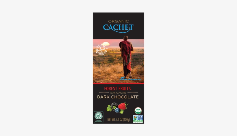 Cachet Tanzania Single Origin Dark Chocolate With Forest - Cachet Caramel And Sea Salt, transparent png #3868597