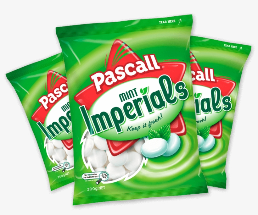 Before Being Packed, Each Imperial Is Carried On A - Pascall Mint Imperials Family Bag 200g Green, transparent png #3869765