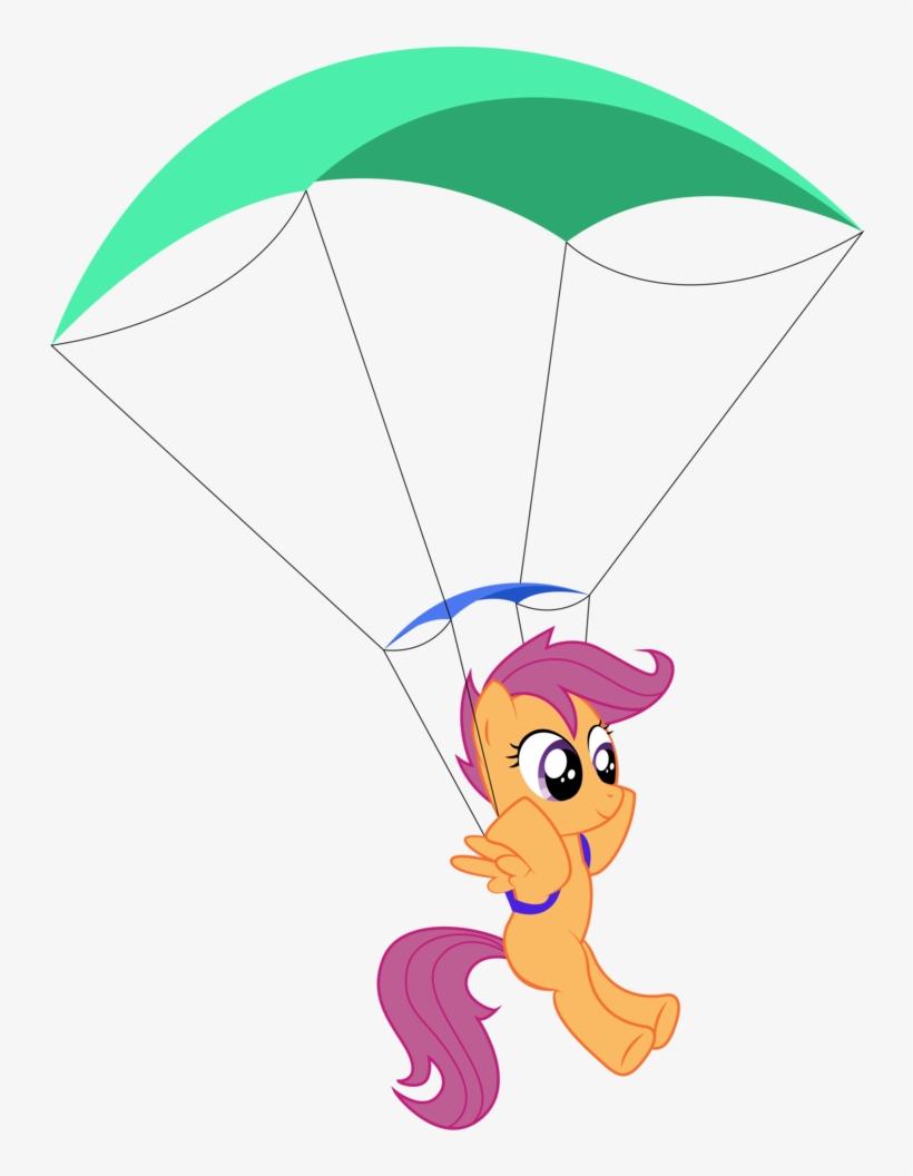 Replaymasteroftime, Parachute, Pony, Safe, Scootaloo, - My Little Pony Parachute, transparent png #3870482