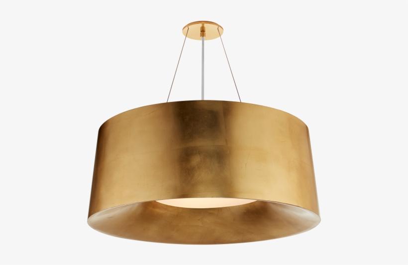Halo Medium Hanging Shade In Gild - Visual Comfort Halo Medium Hanging Shade In Ivory, transparent png #3873168