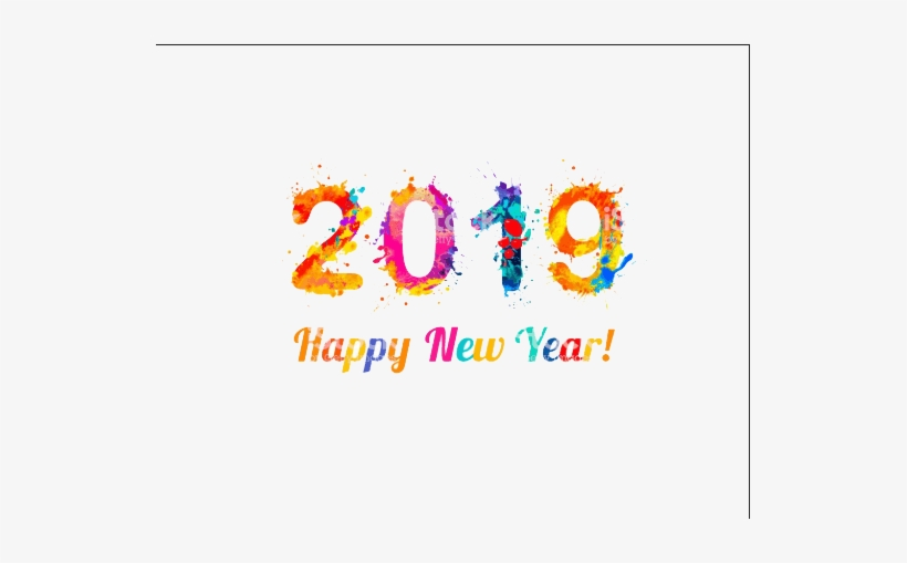 Happy New Year 2019, transparent png #3873884