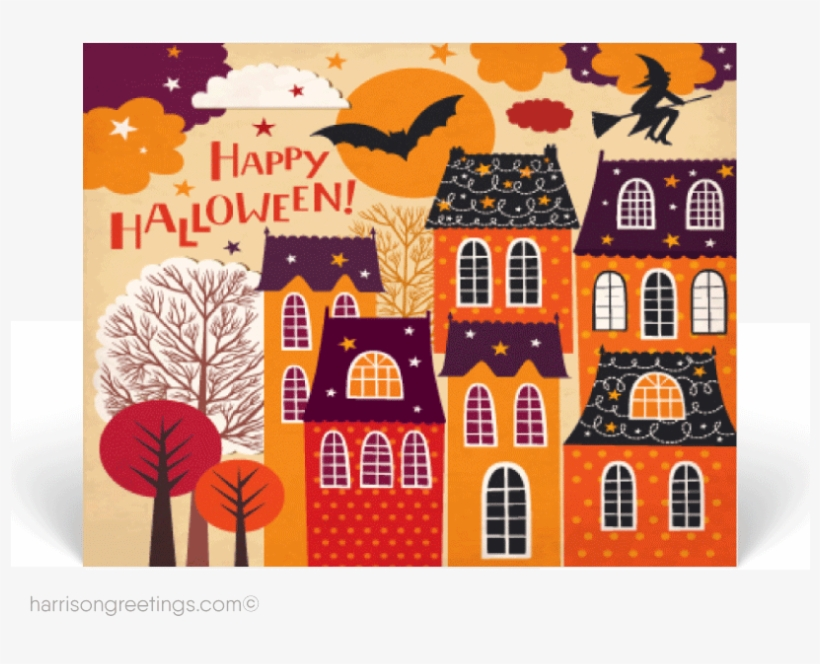 Happy Halloween Real Estate Postcards - Halloween, transparent png #3877686
