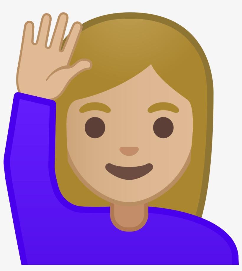 Sassy Girl Emoji Copy Paste The Emoji - Emoji Raising Hand