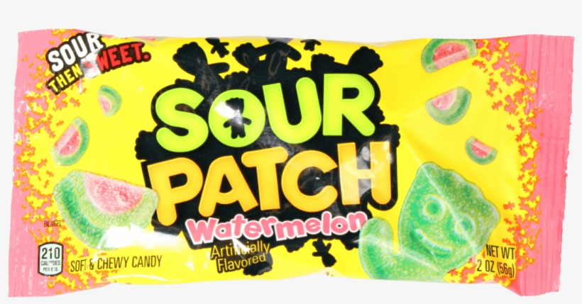 Sour Patch Kids Watermelon 2oz - Sour Patch Soft & Chewy Candy, Watermelon - 2 Oz, transparent png #3882344