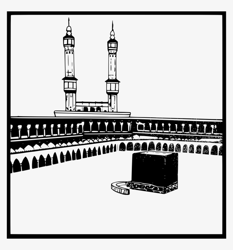 mecca black and white clipart kaaba great mosque of gambar ka bah vector free transparent png download pngkey white clipart kaaba great mosque
