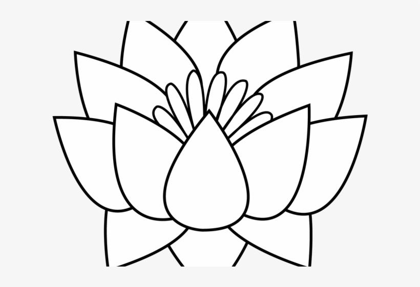 Lotus Tattoos Clipart Flower Border Lotus Flowers Clipart Black