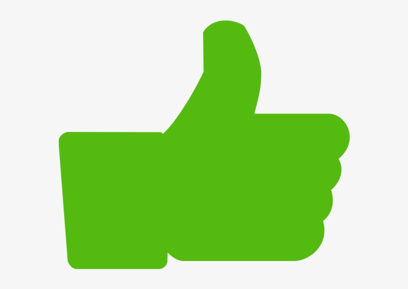 Facebook Thumbs Up Transparent Background Download - Like Png Icon Green, transparent png #3884322