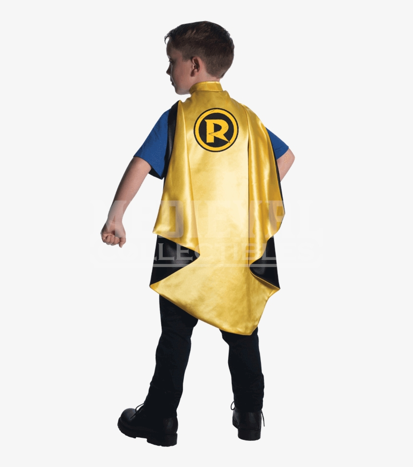 Kids Robin Deluxe Cape - Superman And Bat Halloween Costumes, transparent png #3884496