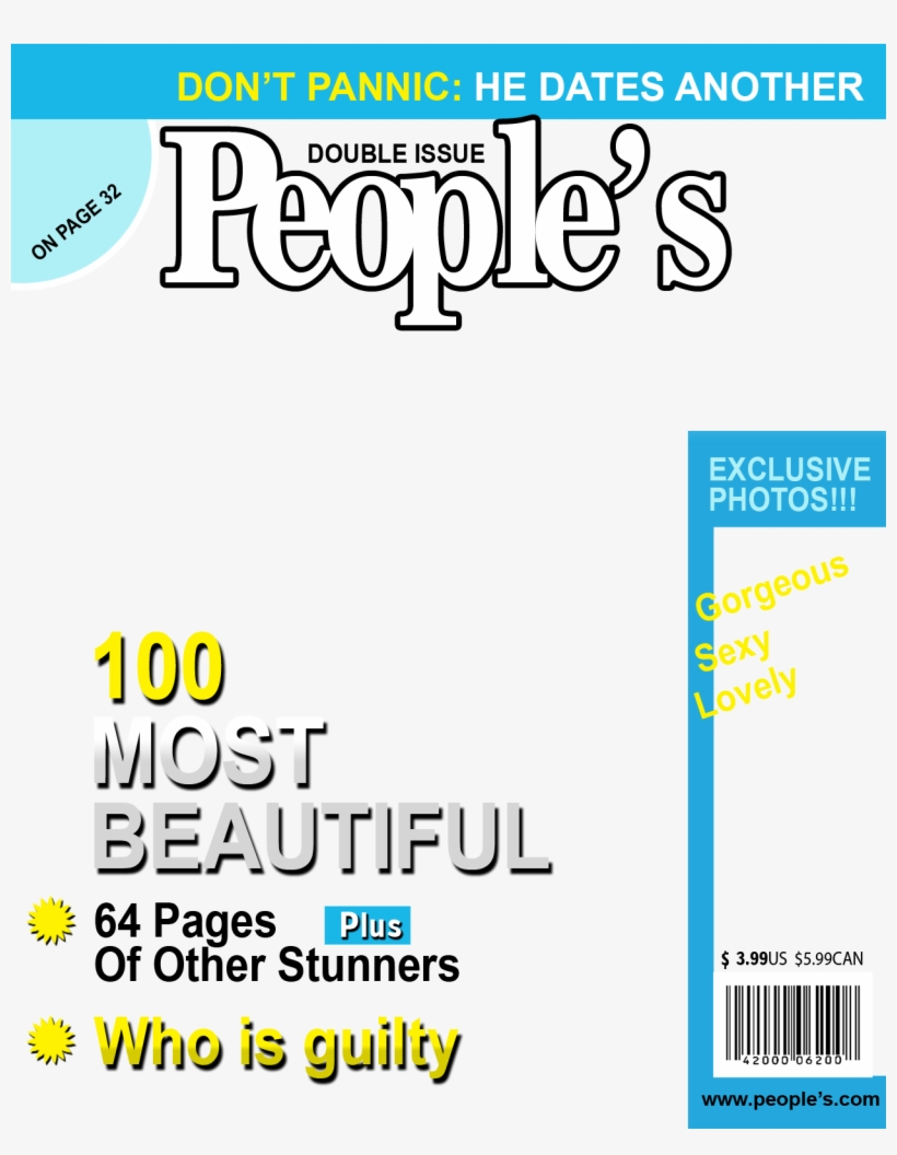 Fake Magazine Cover Templates Magazine Free Transparent Png Download Pngkey