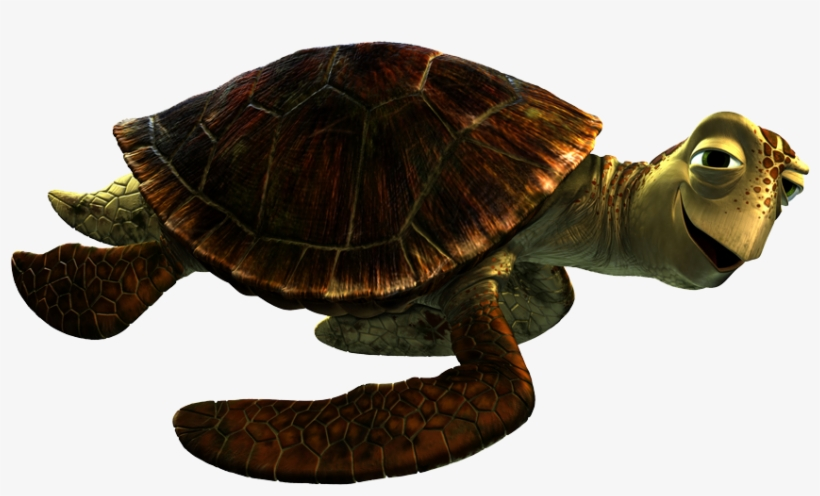 Finding Dory Post12 Crush Finding Nemo, - Turtle From Finding Dory, transparent png #3893373
