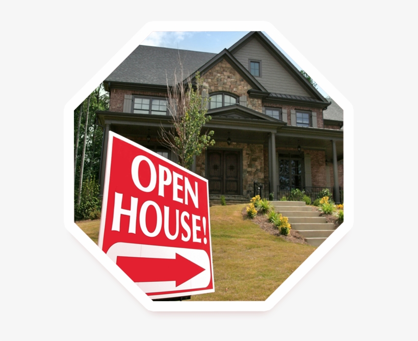 Area Open Houses - Open House Sign, transparent png #3894251