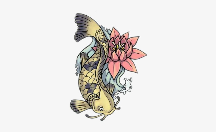 Report Abuse - Koi Fish Tattoo Designs, transparent png #3895353