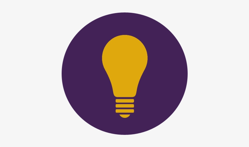 Gold Light Bulb In Purple Circle - Hot Air Balloon, transparent png #3896519
