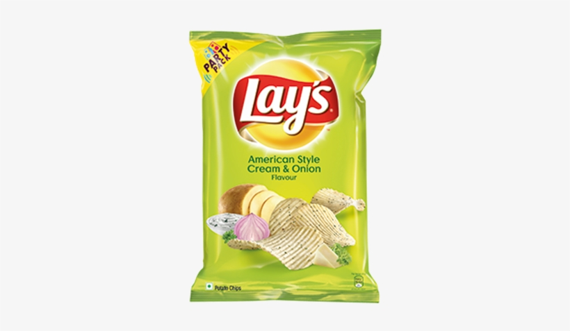 Picture Of Lays Potato Chips - Lays American Style Cream And Onion, transparent png #3899796