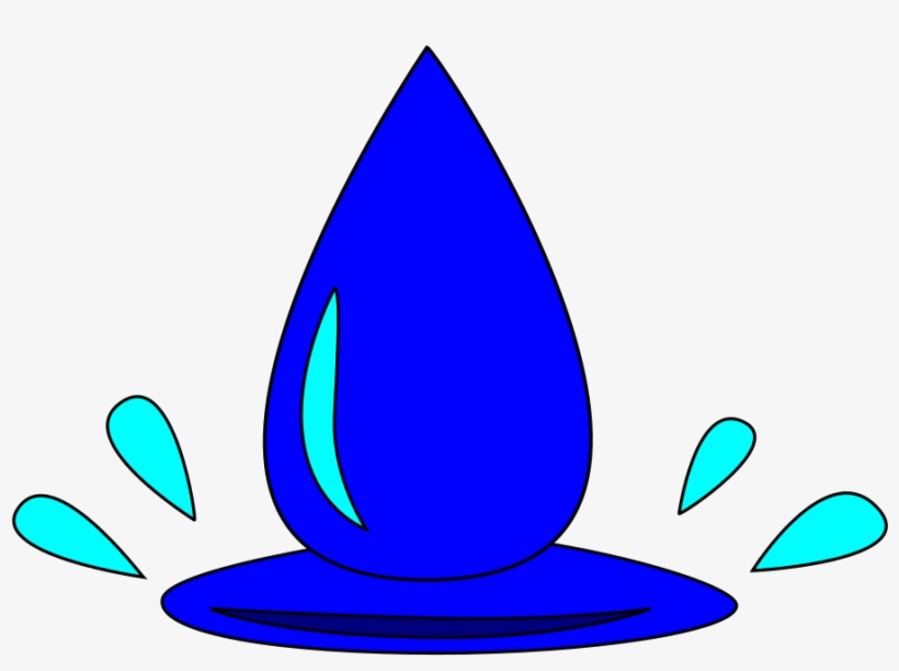 File - Water Droplet - Svg - Wikimedia Commons - Water Droplet Clipart, transparent png #390212