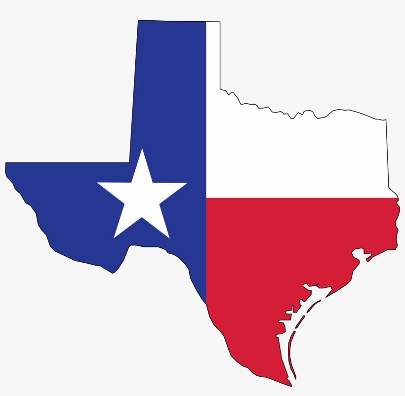 1903 Free Clipart Of A Texas Flag Map 10 - Texas Flag Png, transparent png #390254