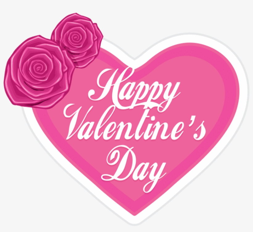 Happy Valentine's Day In Pink Heart Png - Happy Valentines Day Pink Heart, transparent png #390686
