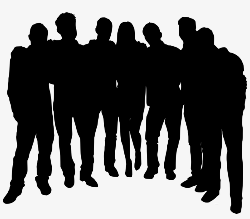 Free Png Group Photo Posing Silhouette Png Images Transparent - Group Of People Silhouette Transparent Background, transparent png #390742