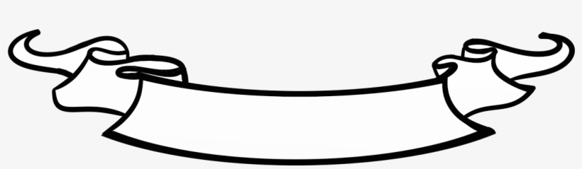 Banner scroll. Png black and white