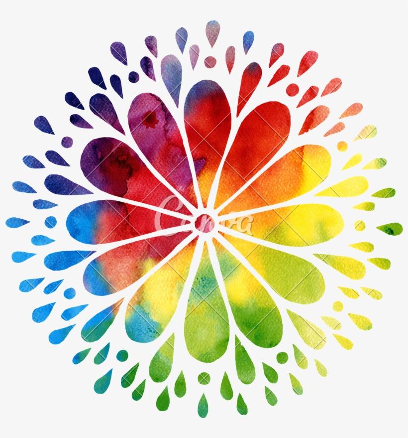 Watercolor Mandala Png, transparent png #391585