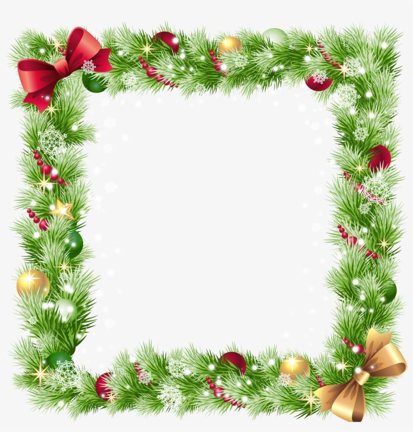 Transparent Christmas Png Border Frame - Christmas Frame Png, transparent png #391808