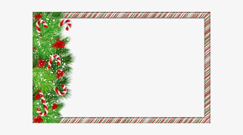 Christmas Border Png Image - Christmas Picture Frame Png, transparent png #392237