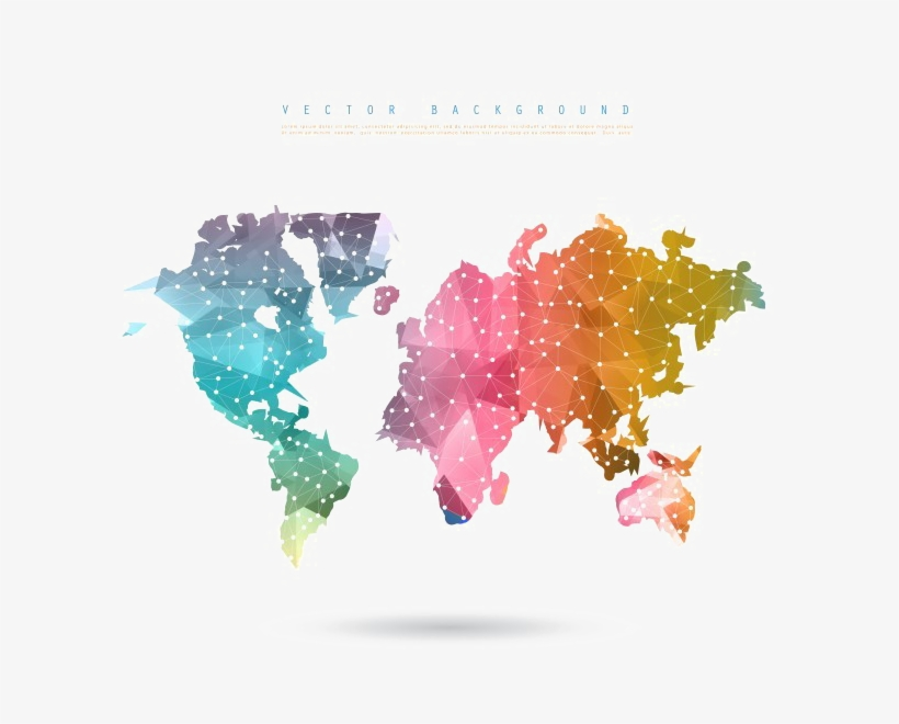 Abstract World Map Png Picture - World Map Vector Design, transparent png #392464