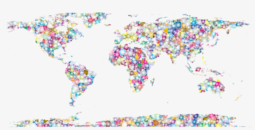 This Free Icons Png Design Of Sweet Tiled World Map, transparent png #392554