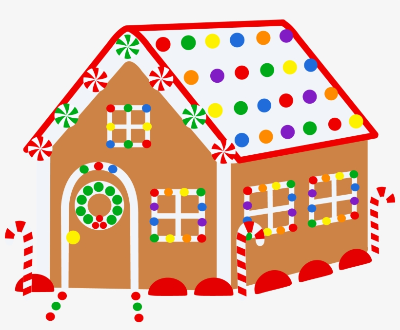 House With Christmas Lights Png Library - Christmas Houses For Drawing, transparent png #392708