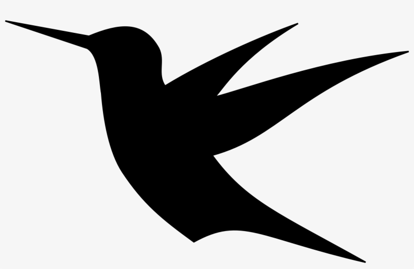 Bird simple. Vector library silhouette clipart
