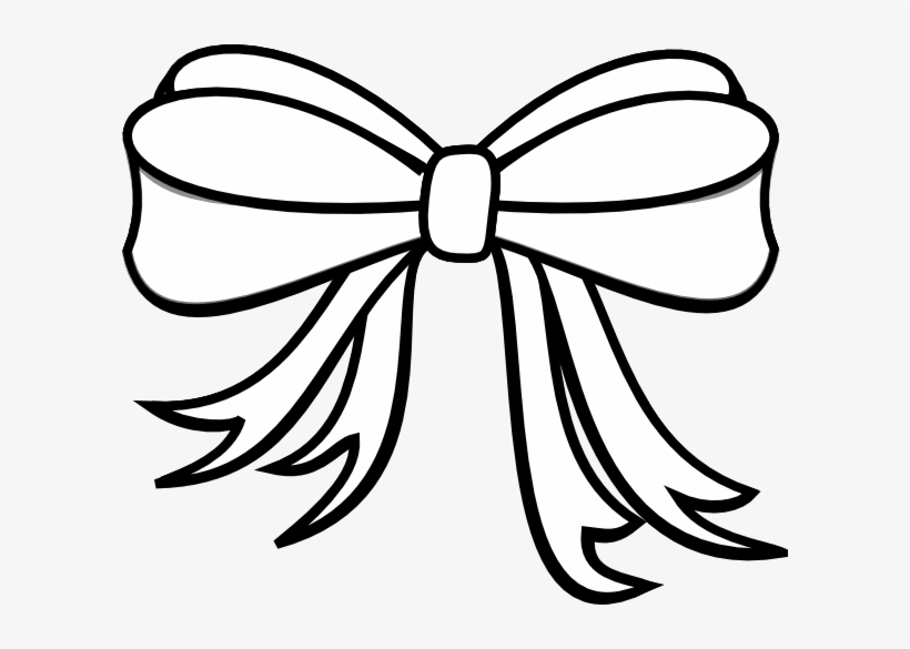 28 Collection Of Christmas Bow Clipart Black And White