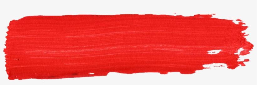 Free Download - Red Paint Brush Stroke, transparent png #393780