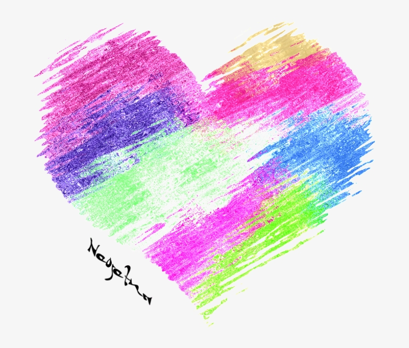 Heart In Watercolor Never Breaks - Heart, transparent png #396076
