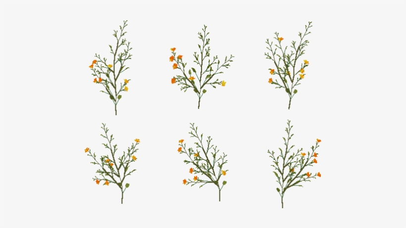 Orange Yellow Flowers 6pk Tumblr Png Transpa 396144
