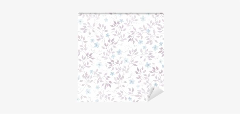 Seamless Pastel Floral Pattern - Girly Feminine Pattern, transparent png #396482