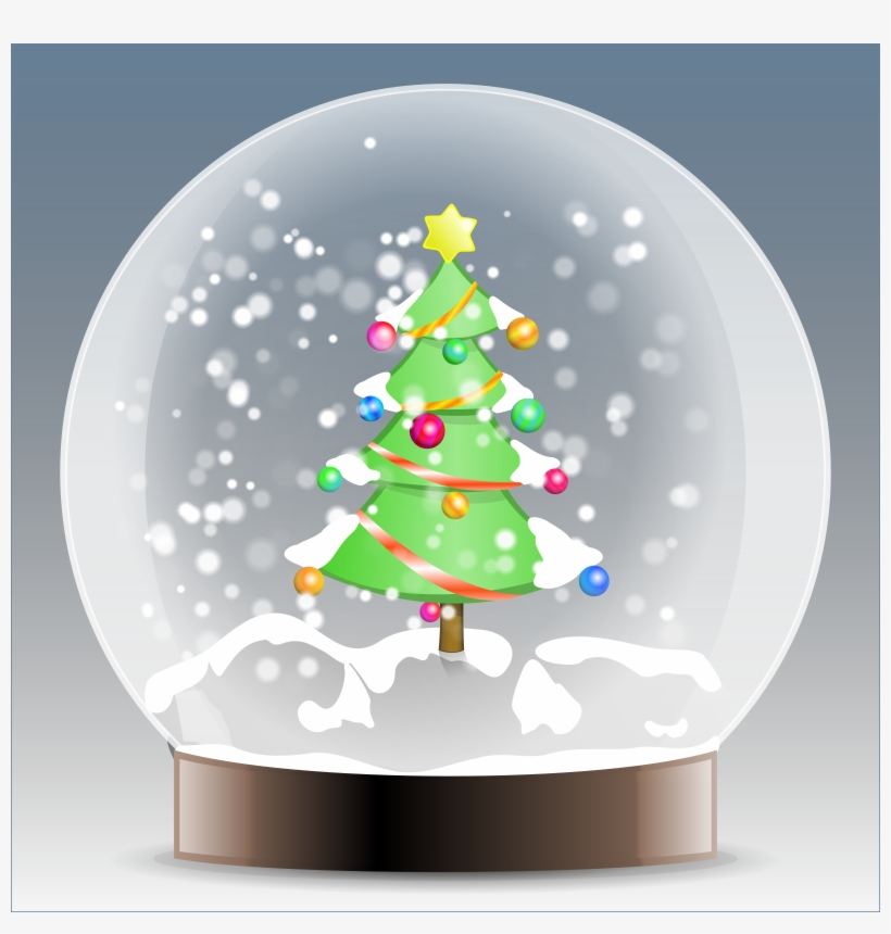 Winter Clipart Snow Globe - Christmas Snow Globes Clip Art, transparent png #396990