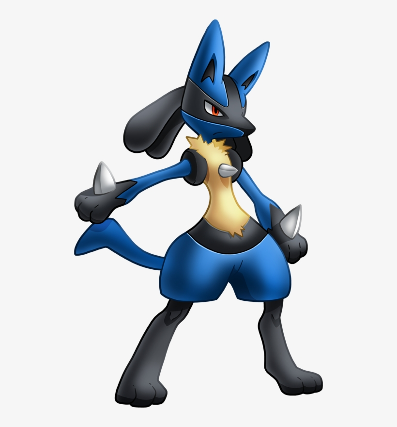 Pok Dex Stats Moves Clip Black And White Stock - Lucario Png, transparent png #397229