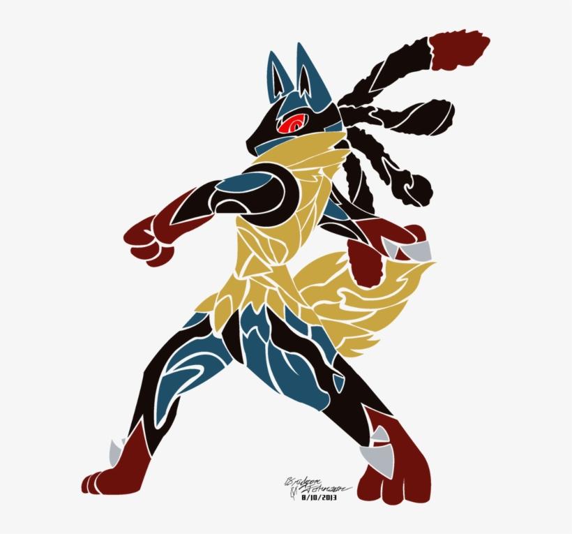 Tribal Mega Lucario Artwork By Pwnisim - Fan Art Méga Lucario, transparent png #397894