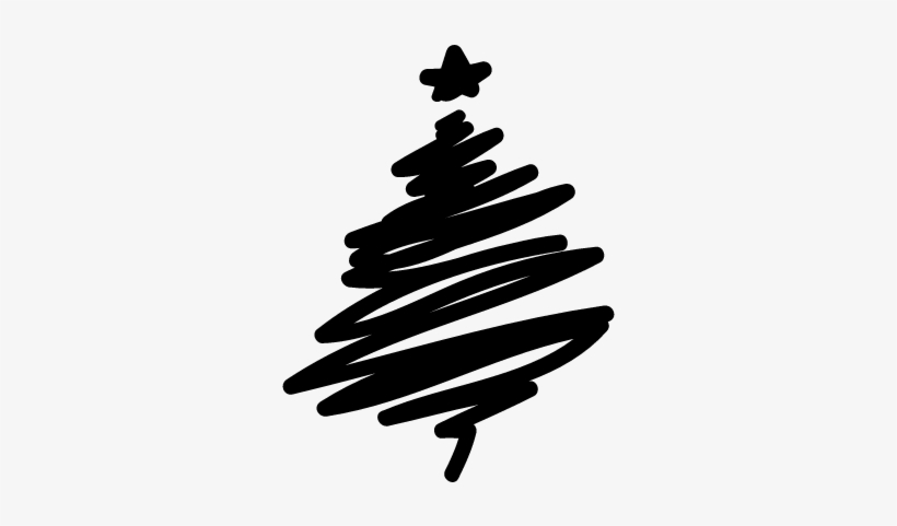 Abstract Christmas Tree Vector - Hand Drawn Christmas Tree Png, transparent png #398266